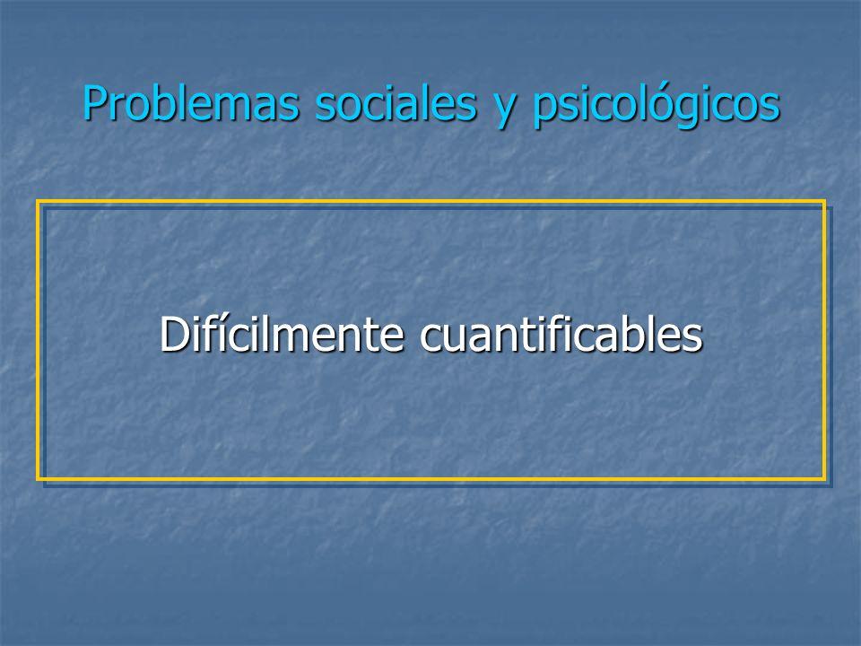 Problemas sociales y psicológicos