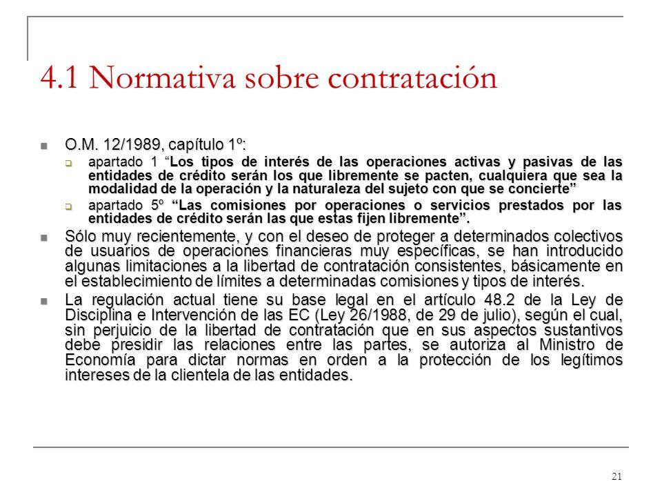 4.1 Normativa sobre contratación