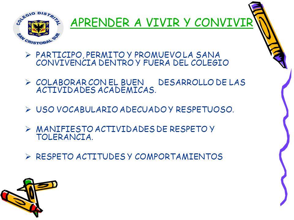 APRENDER A VIVIR Y CONVIVIR