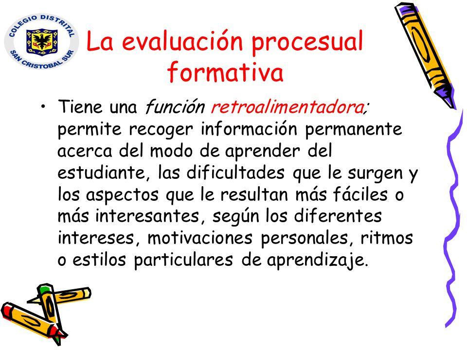 La evaluación procesual formativa