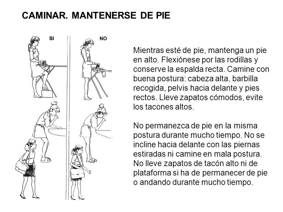 CAMINAR. MANTENERSE DE PIE