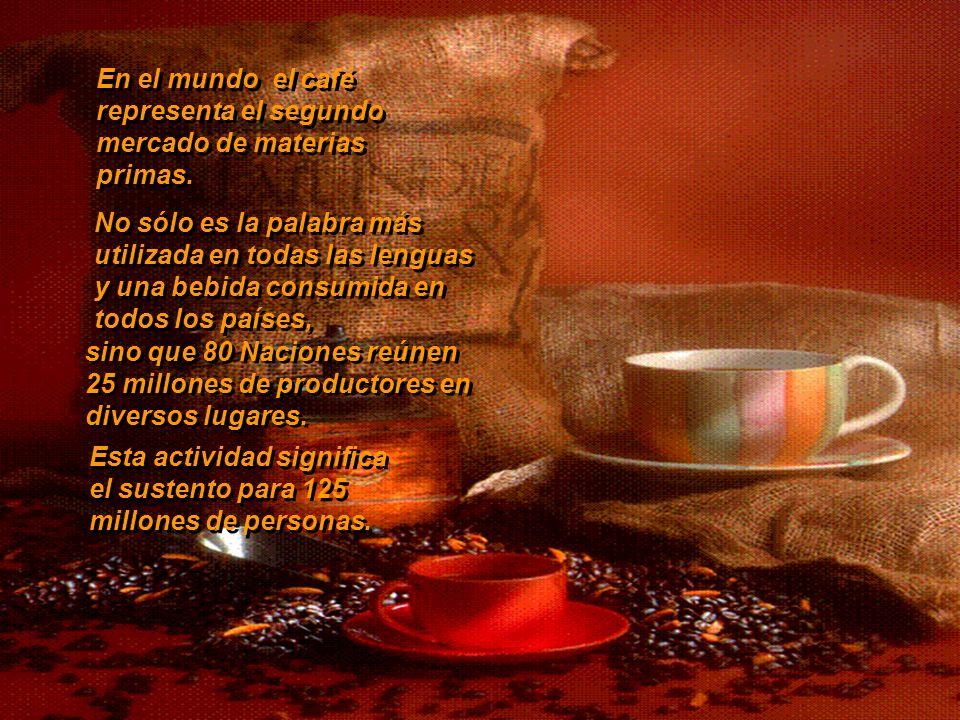 Delicioso En el mundo el café representa el segundo