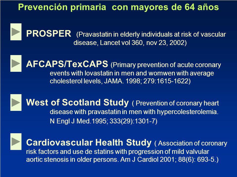 Prevención primaria con mayores de 64 años