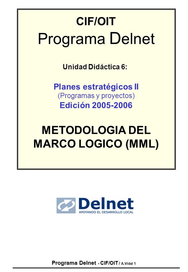 Planes estratégicos II Programa Delnet - CIF/OIT / A.Vidal 1
