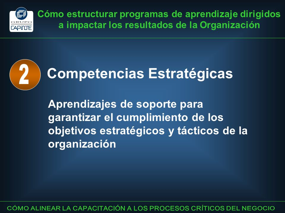 Competencias Estratégicas