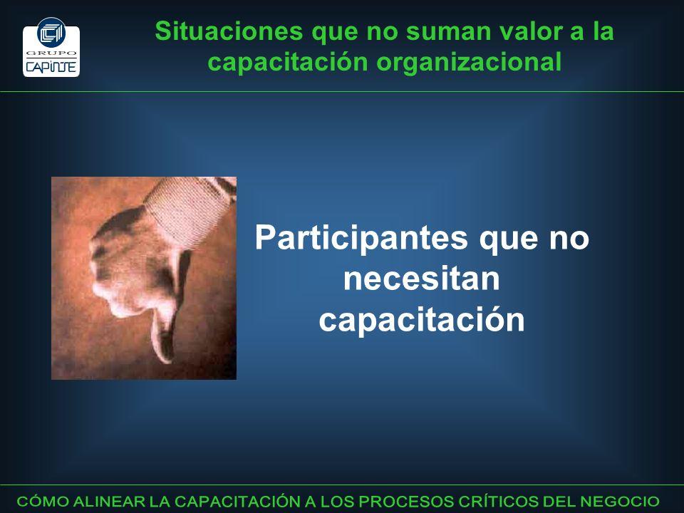 Participantes que no necesitan capacitación