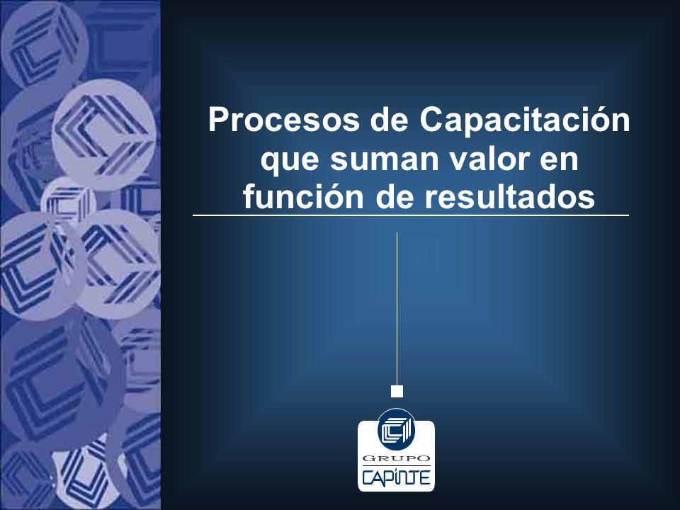 Procesos de Capacitación que suman valor en función de resultados