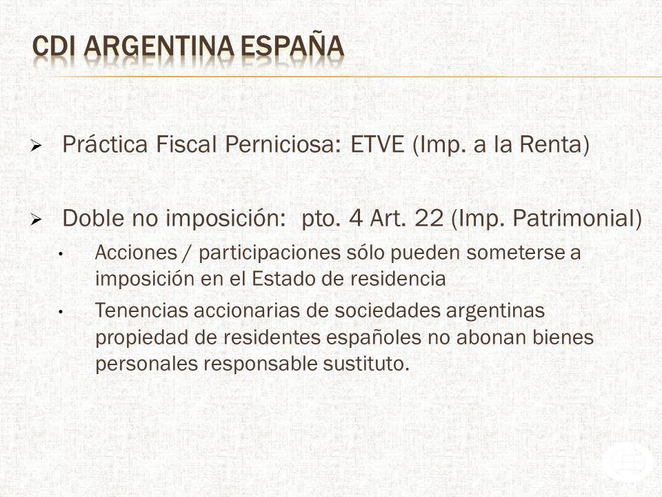 Práctica Fiscal Perniciosa: ETVE (Imp. a la Renta)