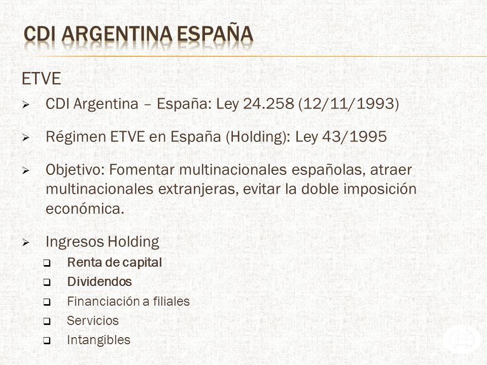 CDI argentina españa ETVE