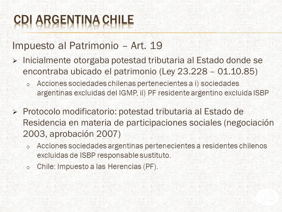 Impuesto al Patrimonio – Art. 19