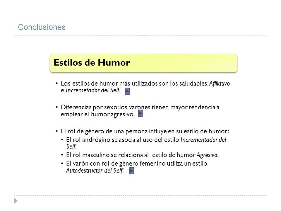 Estilos de Humor Conclusiones