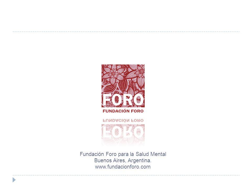 Fundación Foro para la Salud Mental Buenos Aires, Argentina.