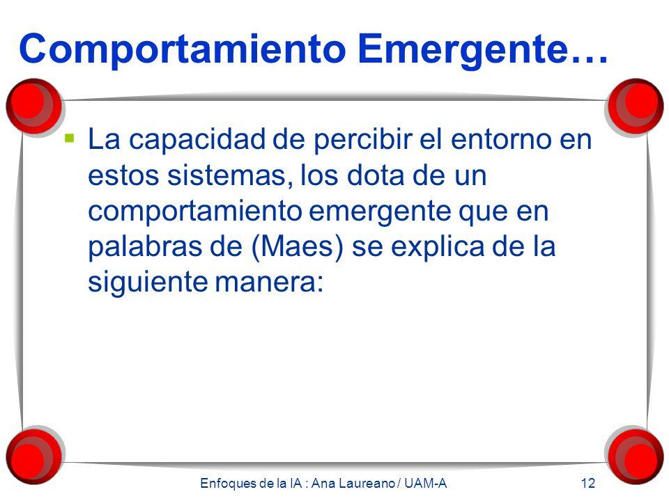 Comportamiento Emergente…