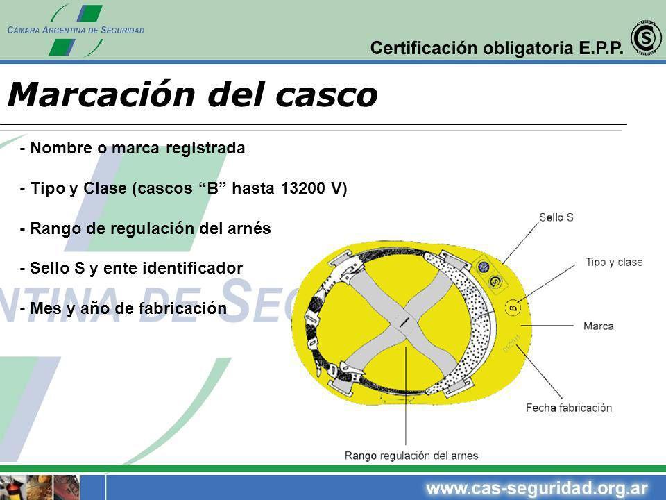 Marcación del casco - Nombre o marca registrada