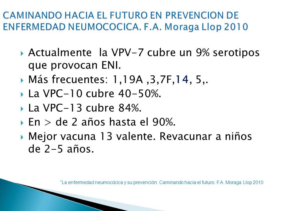 Actualmente la VPV-7 cubre un 9% serotipos que provocan ENI.