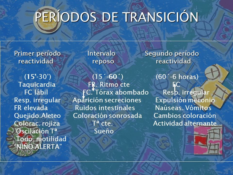 PERÍODOS DE TRANSICIÓN