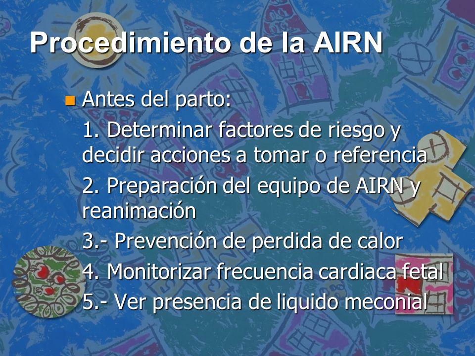 Procedimiento de la AIRN