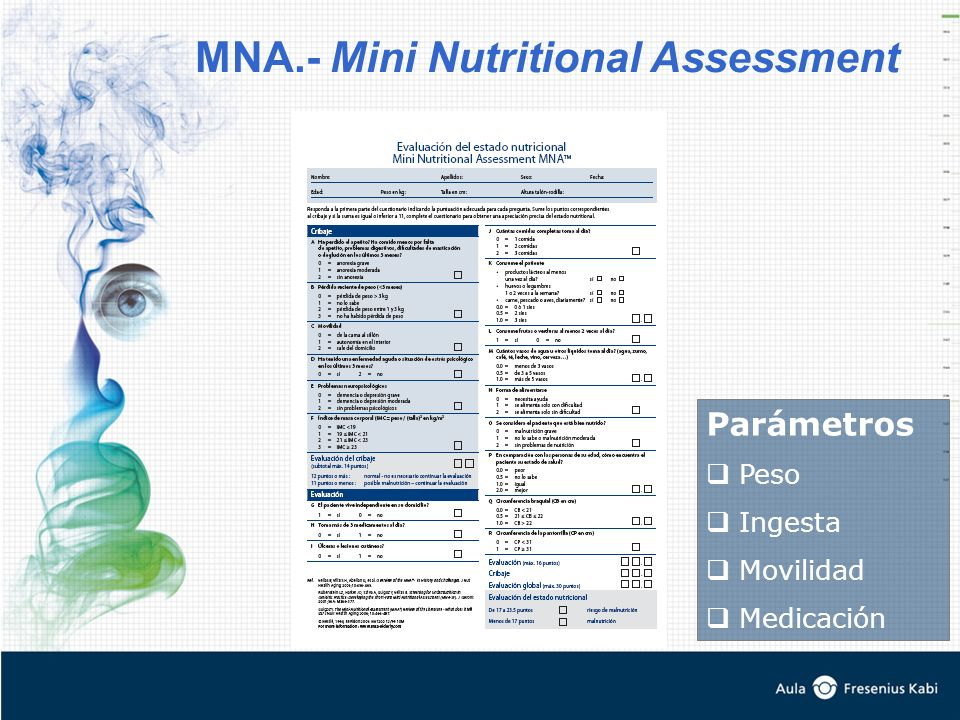 MNA.- Mini Nutritional Assessment