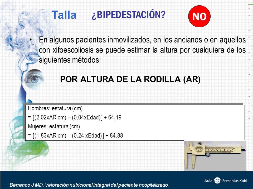 POR ALTURA DE LA RODILLA (AR)