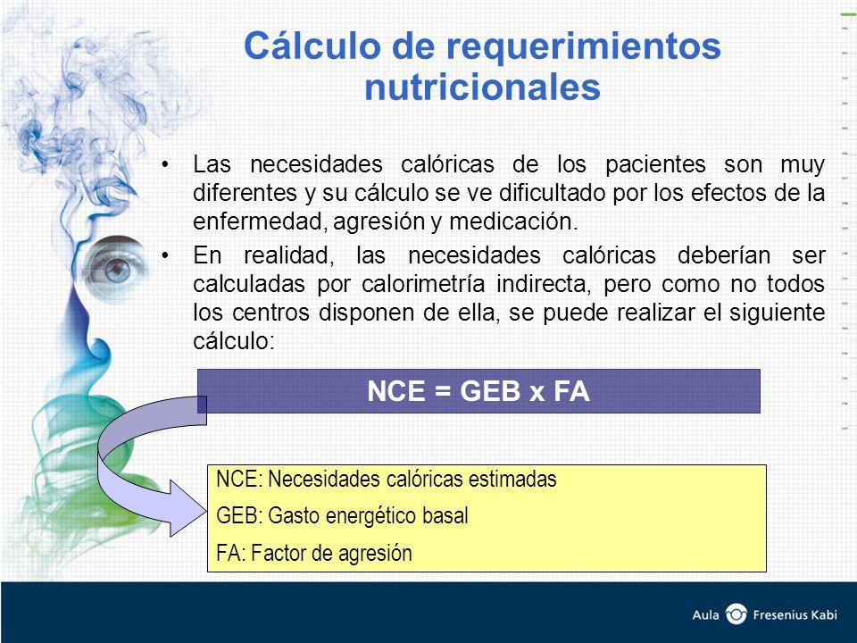 Cálculo de requerimientos nutricionales