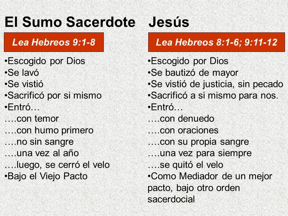 El Sumo Sacerdote Jesús Lea Hebreos 9:1-8 Lea Hebreos 8:1-6; 9:11-12