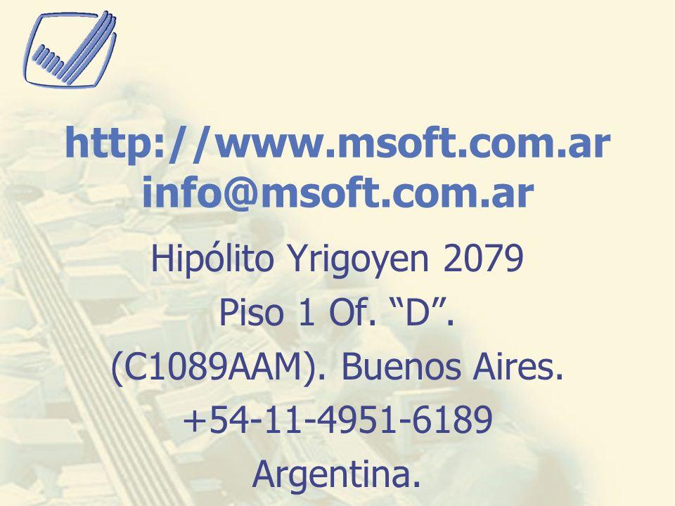 http://www.msoft.com.ar info@msoft.com.ar