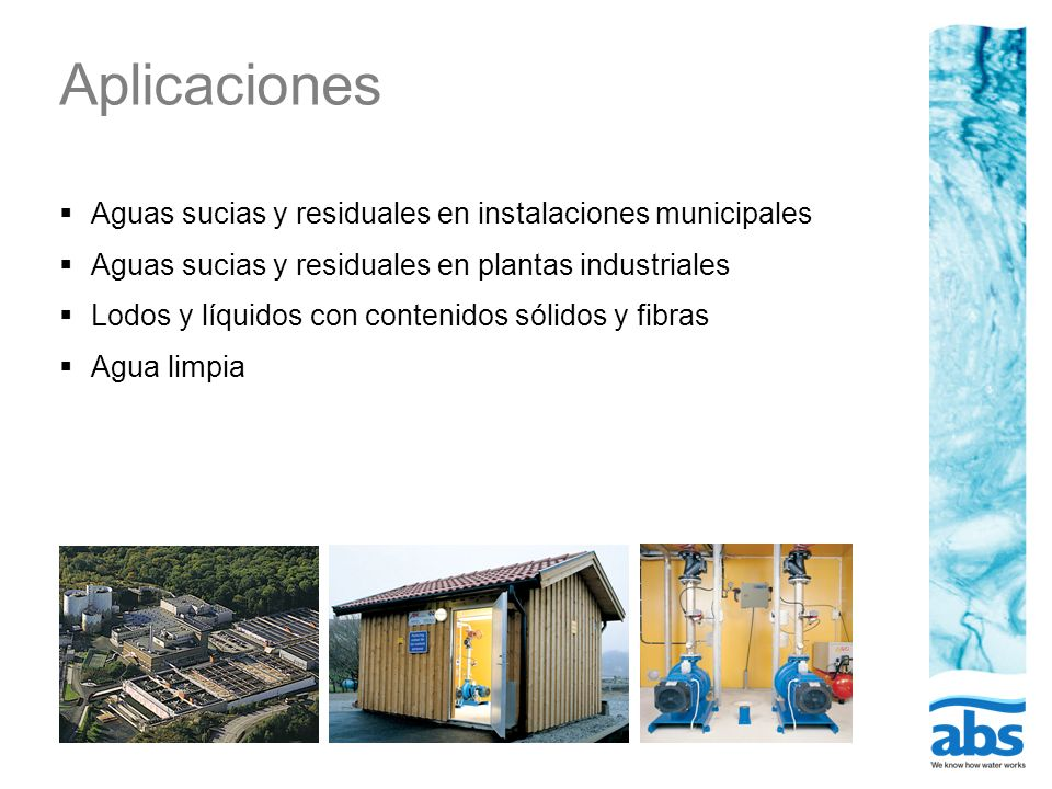 Aplicaciones Aguas sucias y residuales en instalaciones municipales