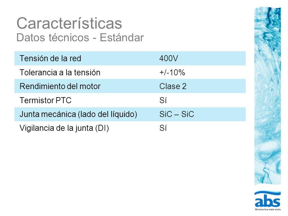 Características Datos técnicos - Estándar