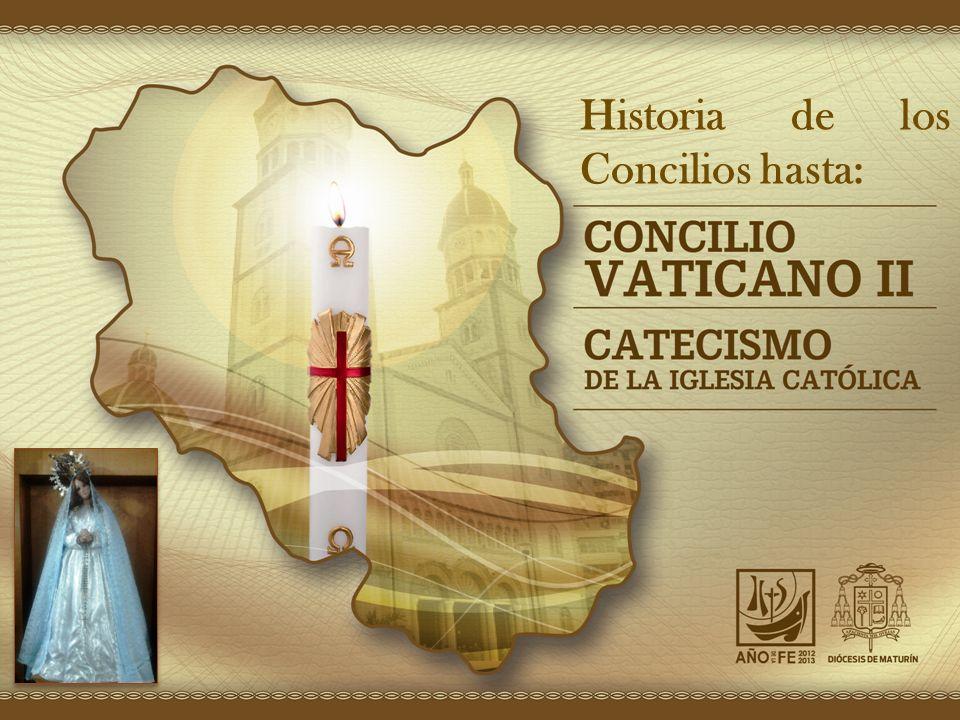 Concilios Ecuménicos Historia de los Concilios hasta: La Iglesia ha tenido 21 Concilios Ecuménicos, sin contar el de los Apóstoles en Jerusalén.