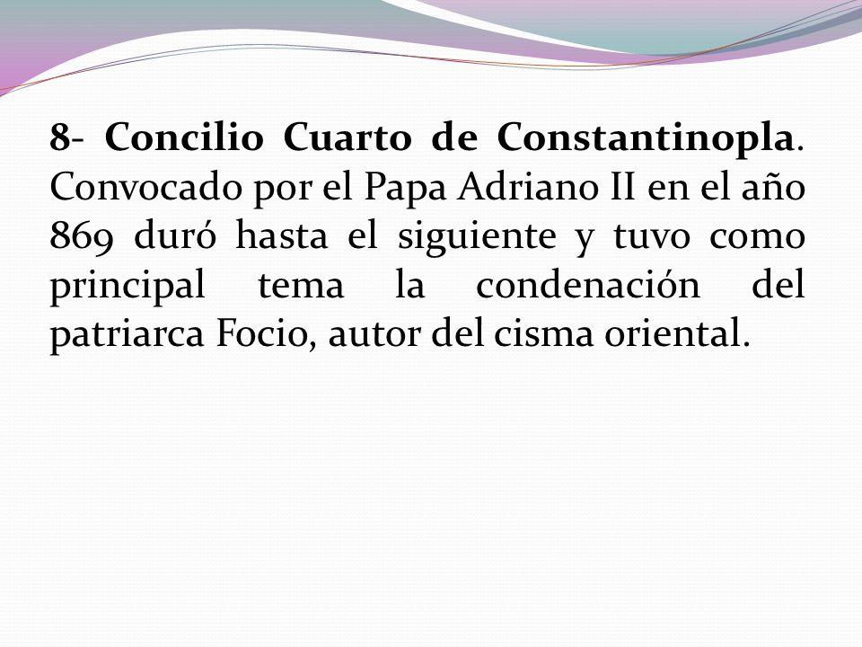 8- Concilio Cuarto de Constantinopla