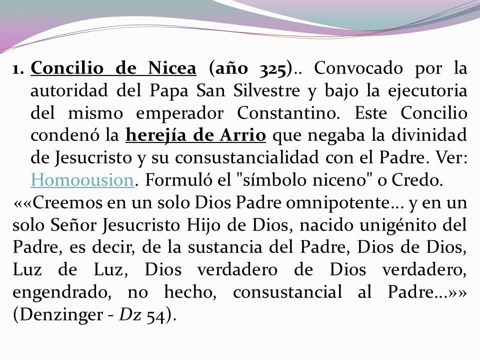 Concilio de Nicea (año 325)