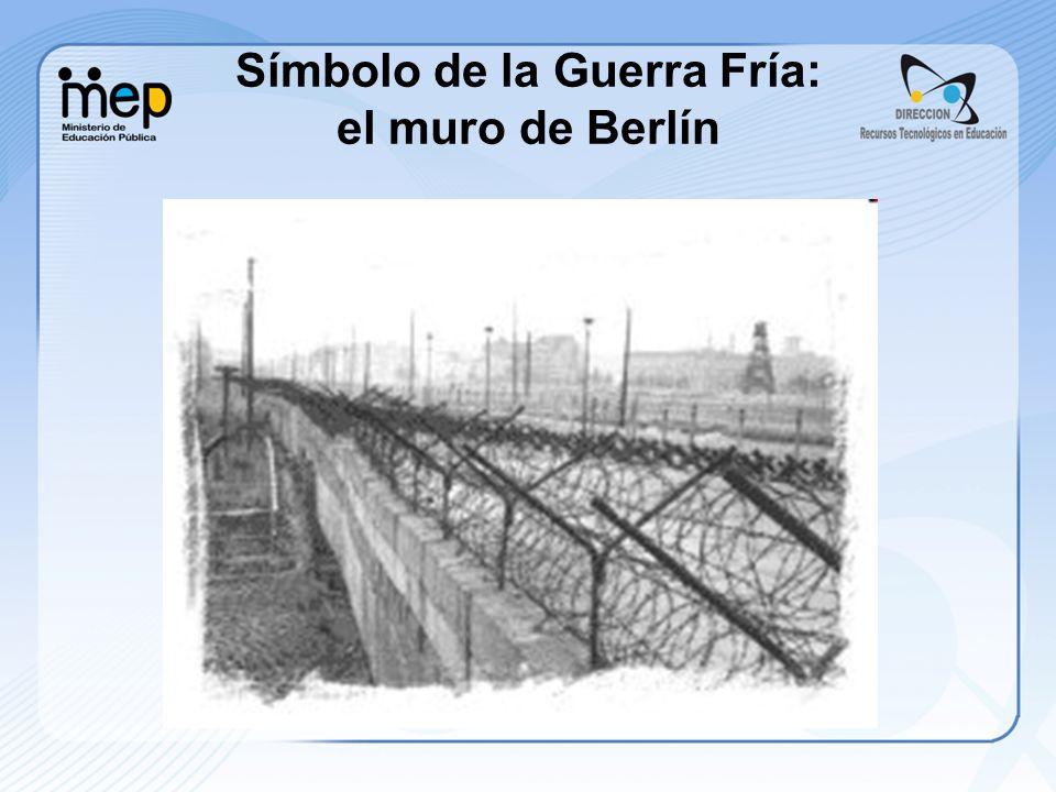Símbolo de la Guerra Fría: el muro de Berlín
