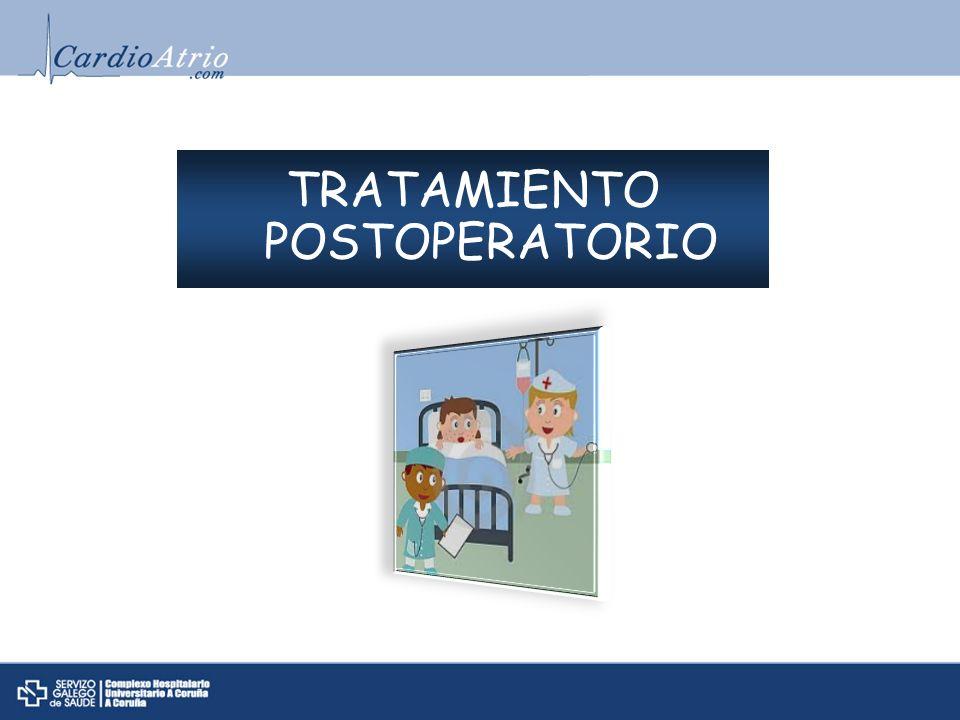 TRATAMIENTO POSTOPERATORIO