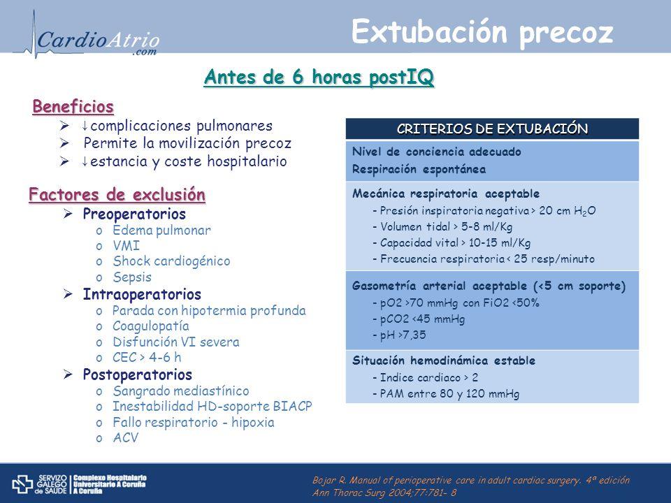 CRITERIOS DE EXTUBACIÓN