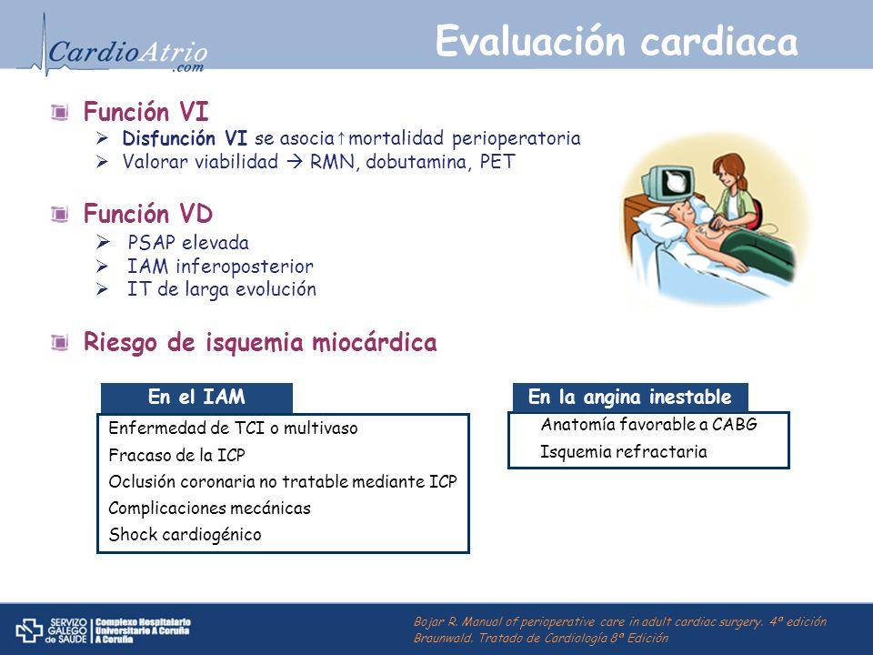 Evaluación cardiaca Función VI Función VD