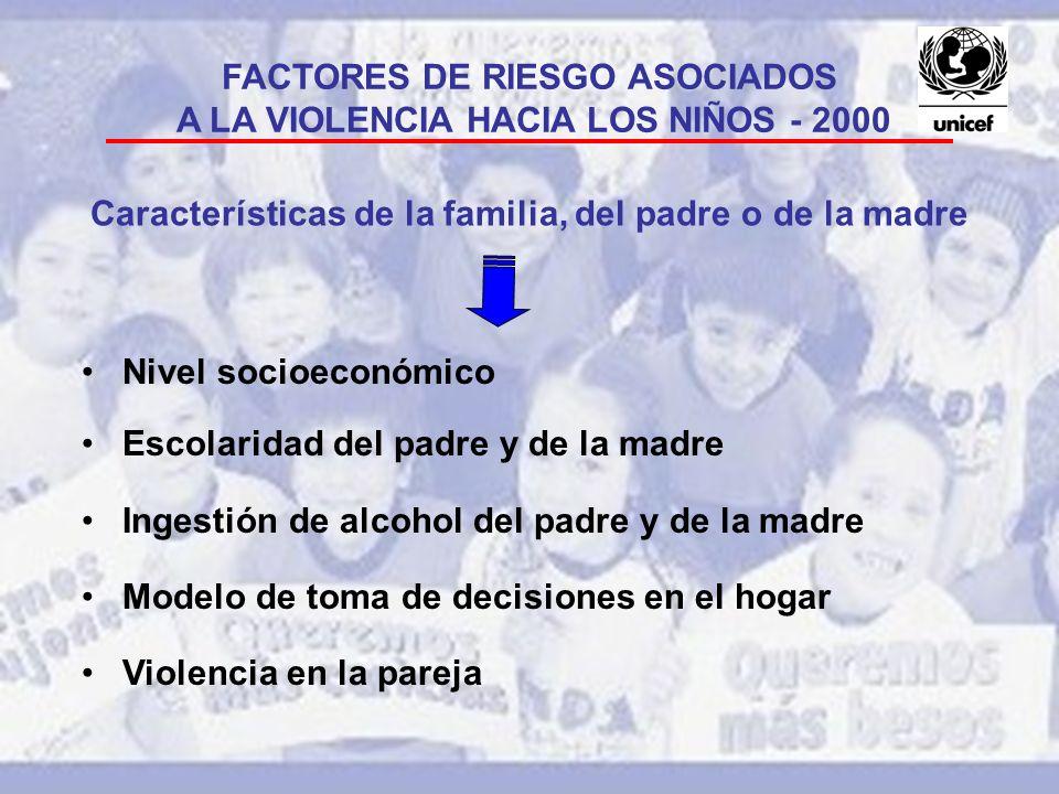 FACTORES DE RIESGO ASOCIADOS A LA VIOLENCIA HACIA LOS NIÑOS - 2000