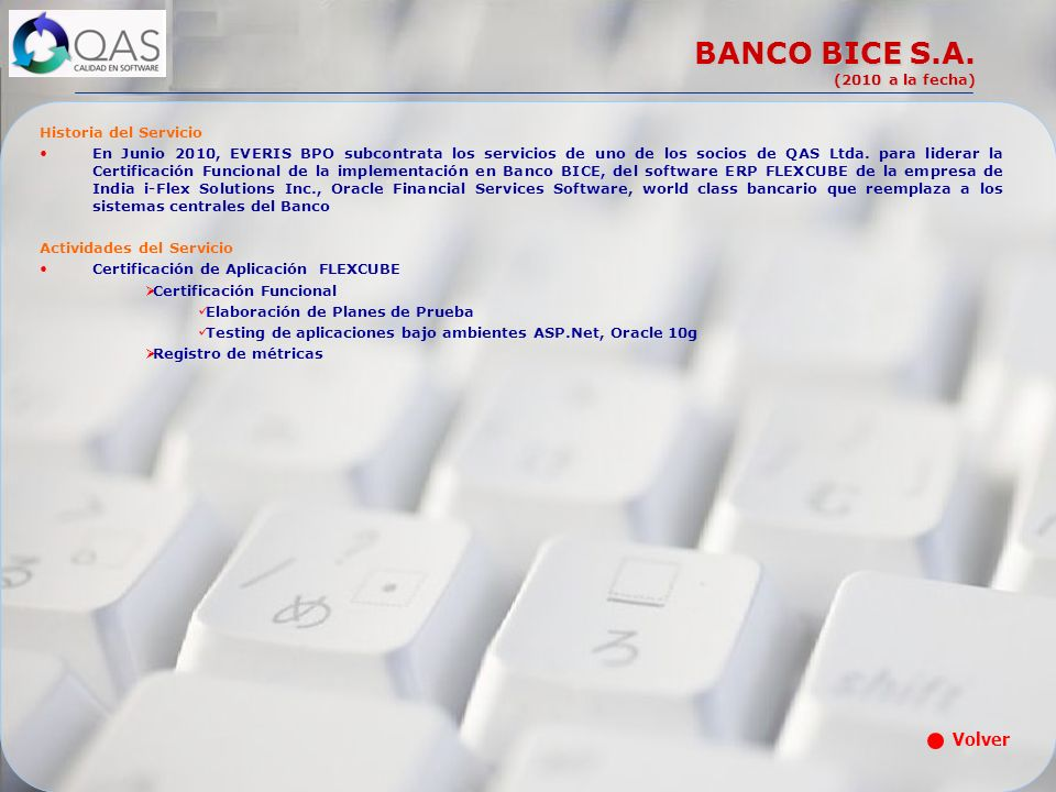 BANCO BICE S.A. (2010 a la fecha)