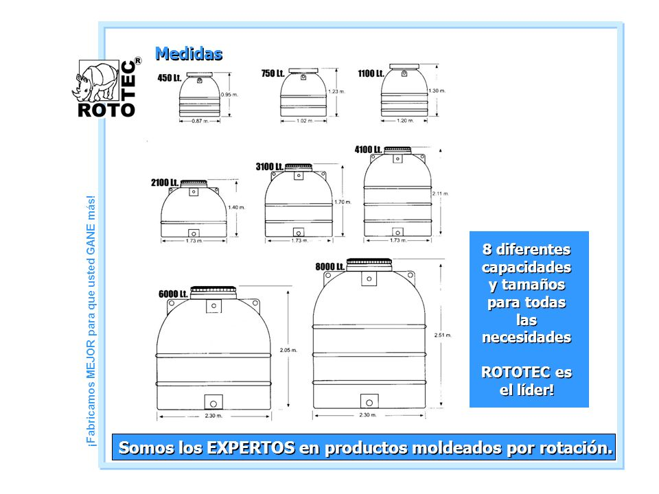 Somos los EXPERTOS en productos moldeados por rotación.