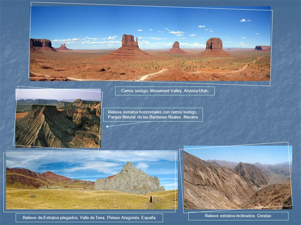 Cerros testigo. Monument Valley. Arizona-Utah