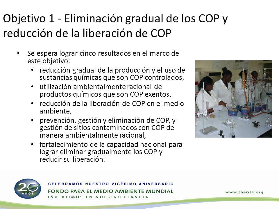 Objetivo 1 - Eliminación gradual de los COP y reducción de la liberación de COP