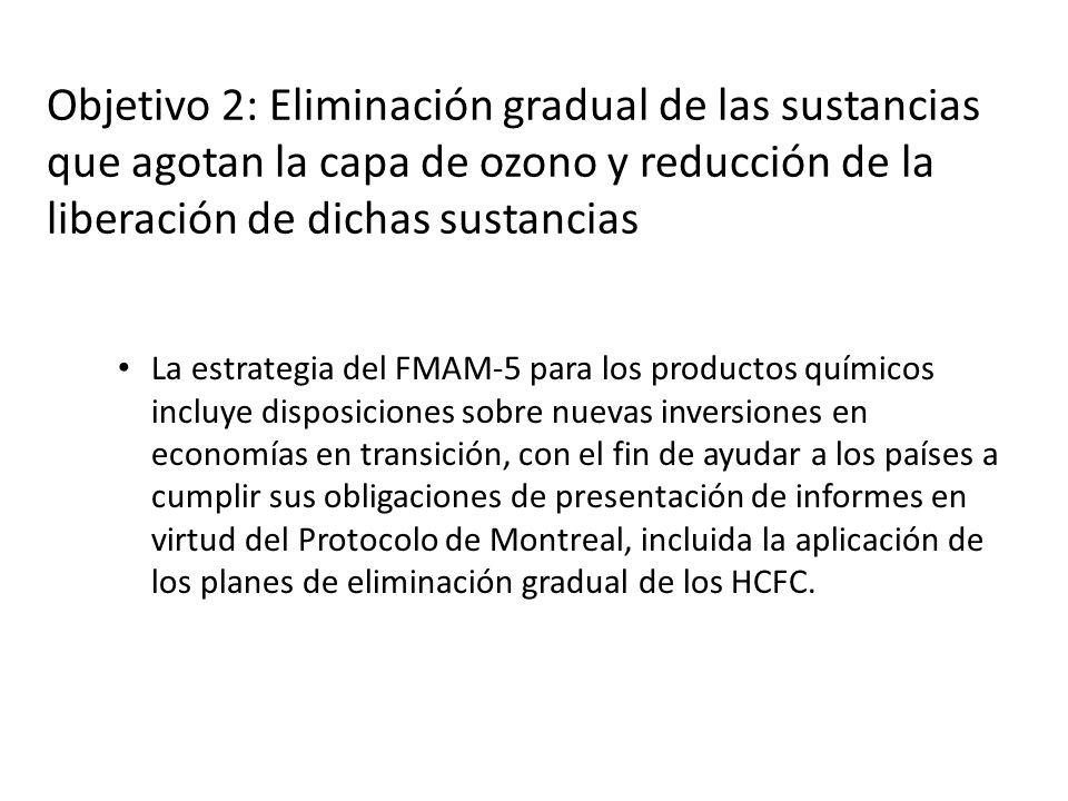 Objetivo 2: Eliminación gradual de las sustancias que agotan la capa de ozono y reducción de la liberación de dichas sustancias