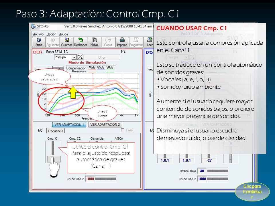 Paso 3: Adaptación: Control Cmp. C1