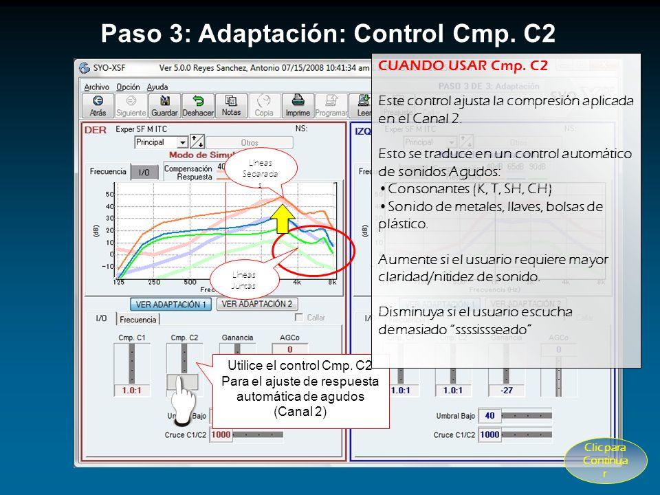 Paso 3: Adaptación: Control Cmp. C2