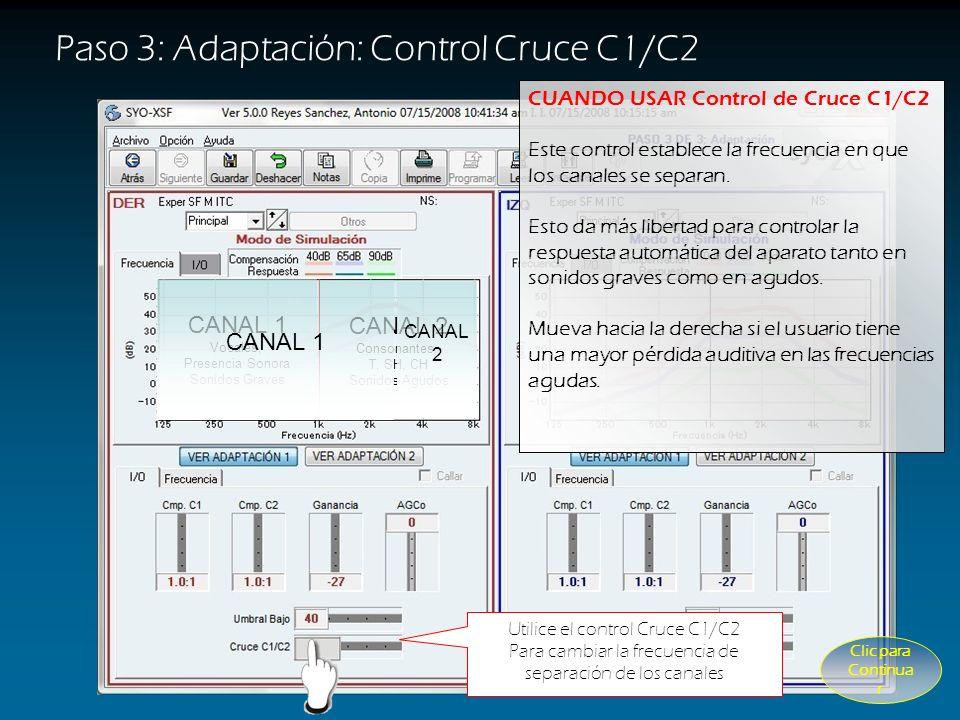 Paso 3: Adaptación: Control Cruce C1/C2