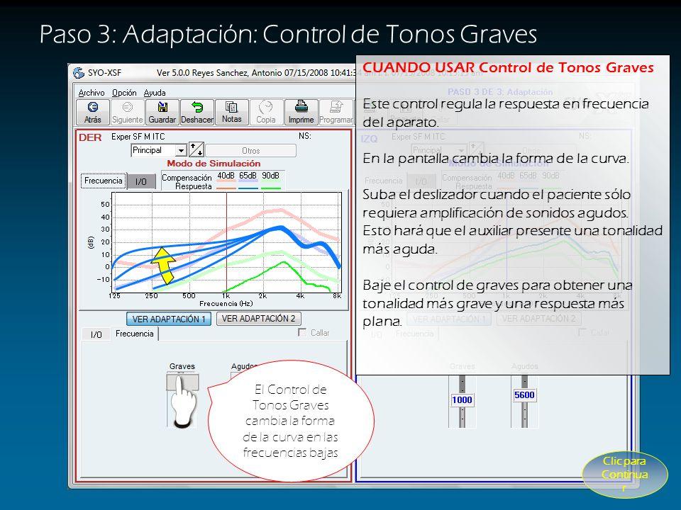 Paso 3: Adaptación: Control de Tonos Graves