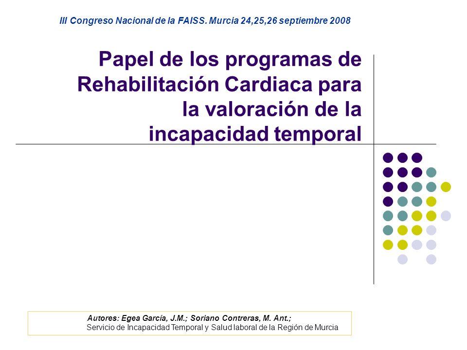III Congreso Nacional de la FAISS. Murcia 24,25,26 septiembre 2008