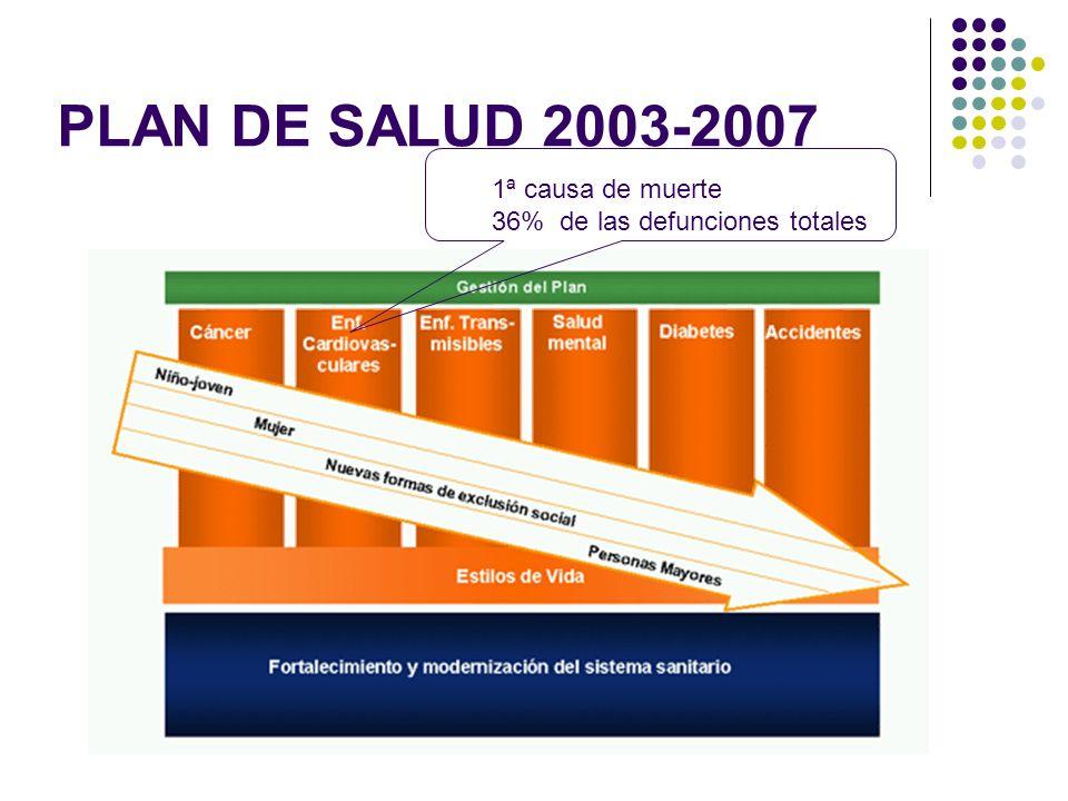 PLAN DE SALUD 2003-2007 1ª causa de muerte