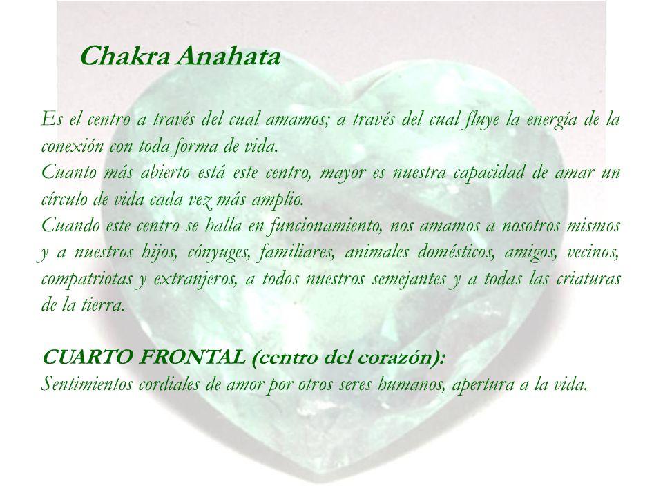 Chakra Anahata Es el centro a través del cual amamos; a través del cual fluye la energía de la conexión con toda forma de vida.