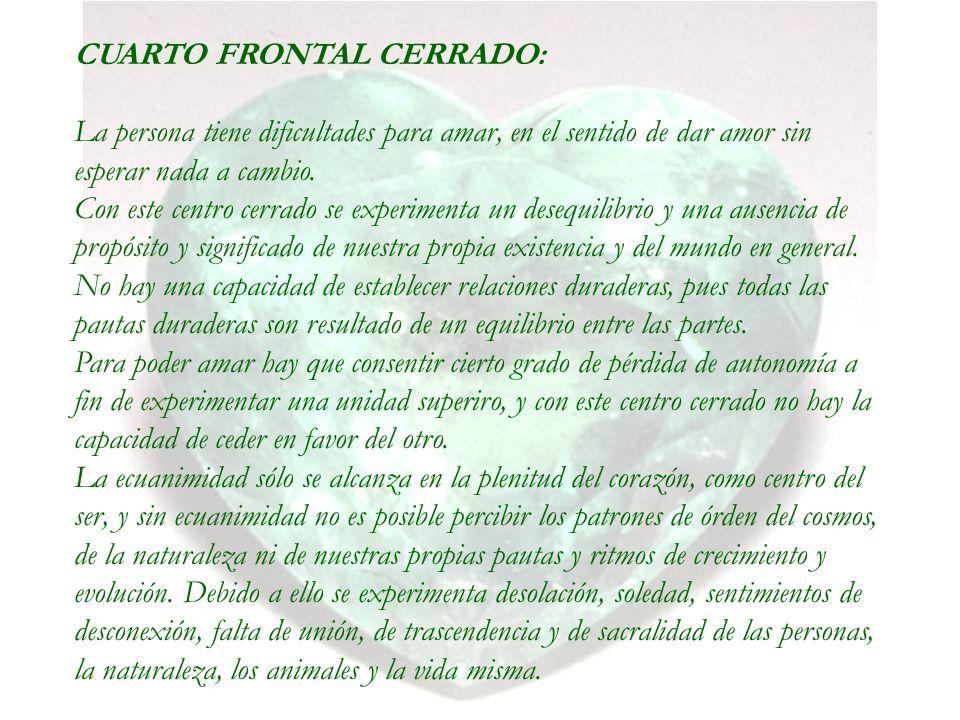 CUARTO FRONTAL CERRADO: