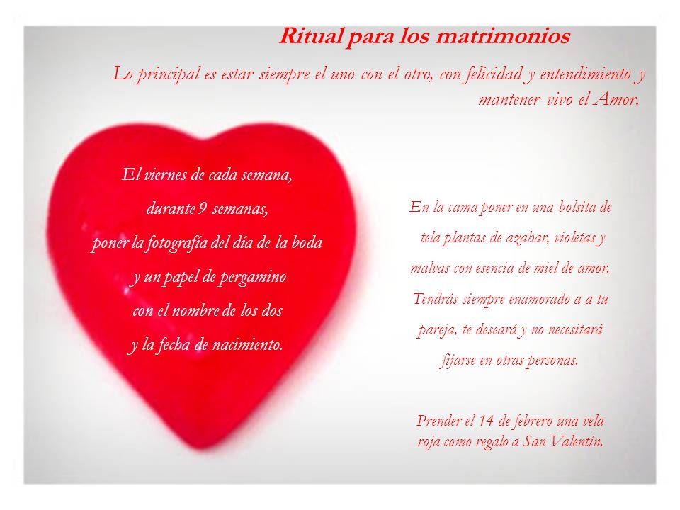 Ritual para los matrimonios